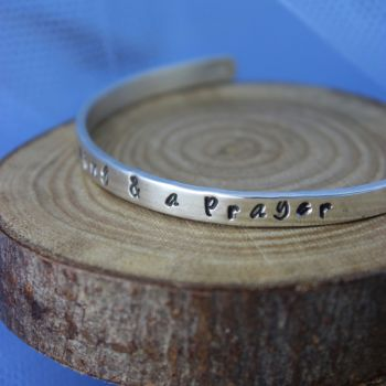 """wing & a prayer"" Believe Bangle"