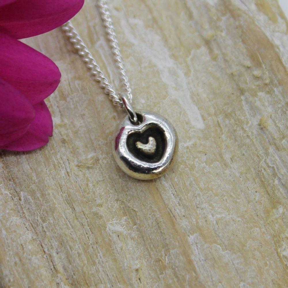 Bubble Heart Necklace