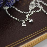 Initial & Heart Necklace
