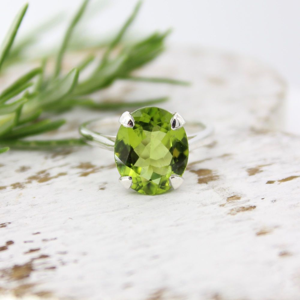 Peridot Oval Ring for Sophie's 21st