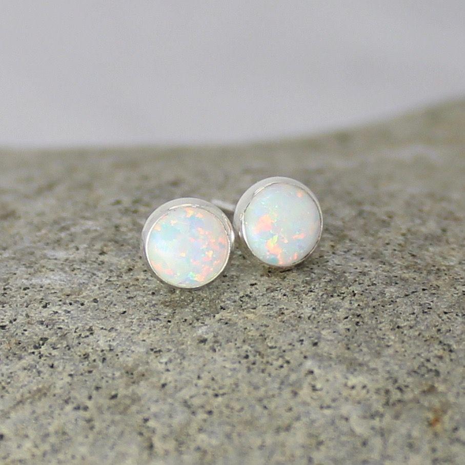 Opal Studs (6mm)