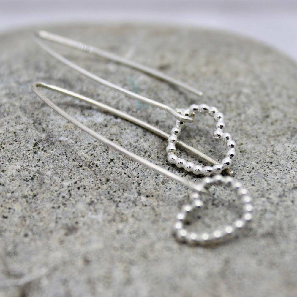 Bubble Heart Drop Earrings