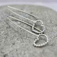 Bubble Heart Drop Earrings