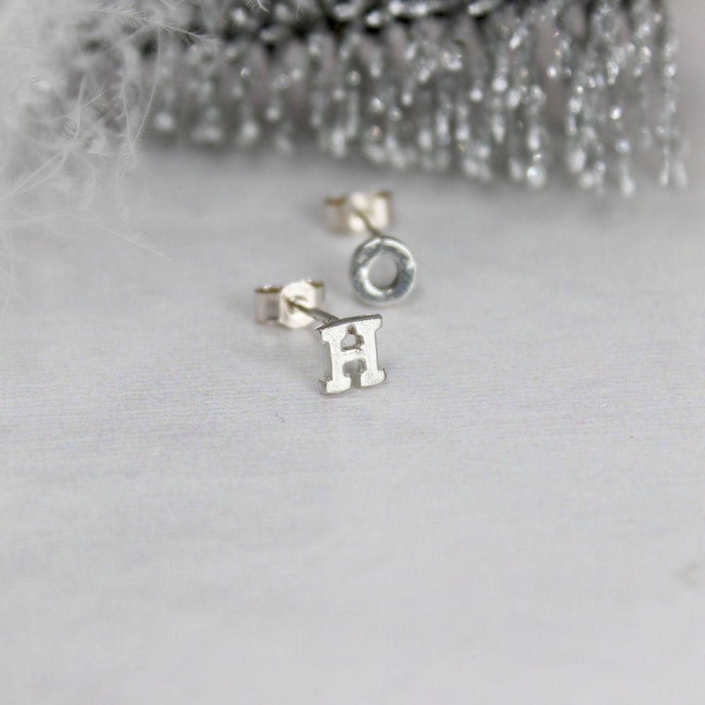 Initial Stud Earring - single/pair