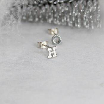Initial Stud Earring - single or pair