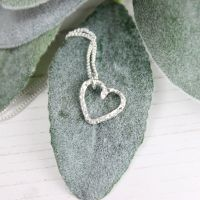 Hammered Heart Necklace - Mini