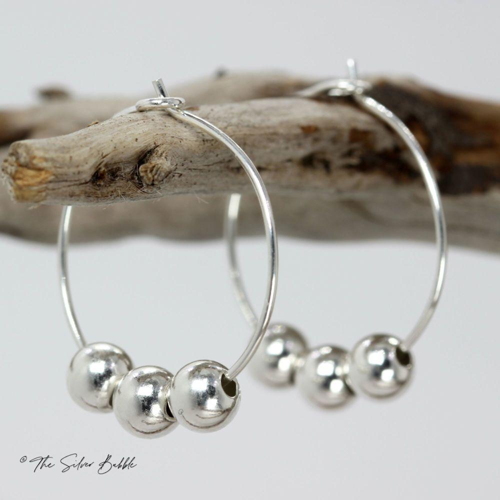 Fidget Hoop Earrings