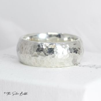 8mm Hammered Ring