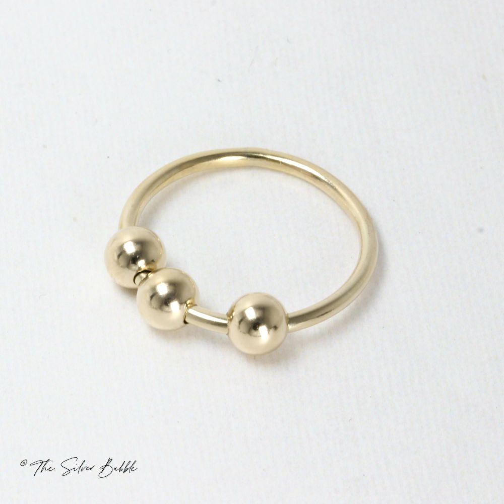 Fidget/Worry/Anxiety Ring - 9ct Gold