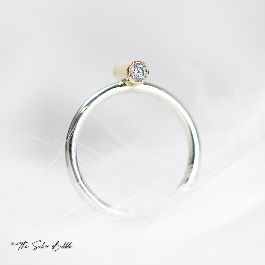 Life in Balance Silver & Gold Ring