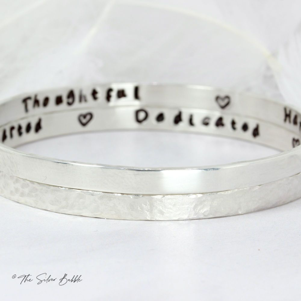 What Would You Say? Bangles - personalised (set of two)