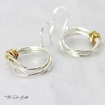 Twisted Halo Earrings with 9ct Gold
