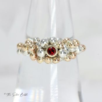 Granulation Ring with Garnet
