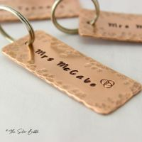 Copper Tag Keyring - personalised