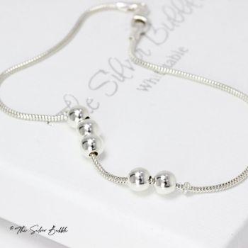 Fidget Bracelet with Five Silver Balls