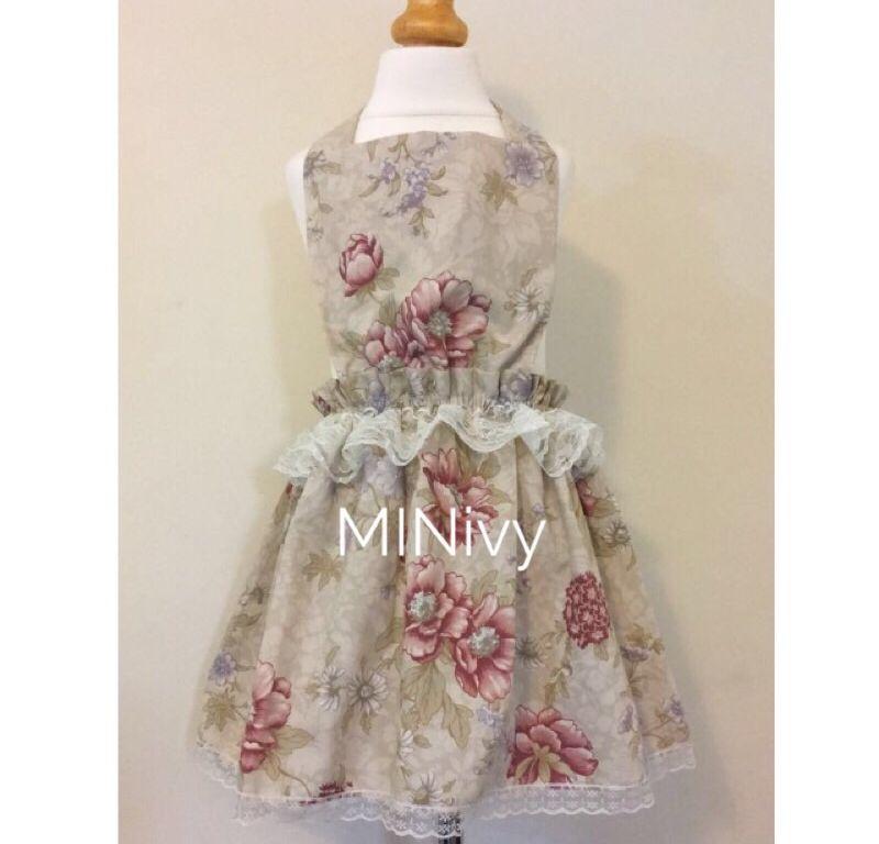 4/5Y VINTAGE FLORAL PINNY DRESS