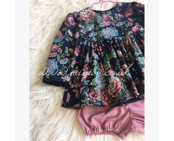 MIDNIGHT GARDEN - PEPLUM SET