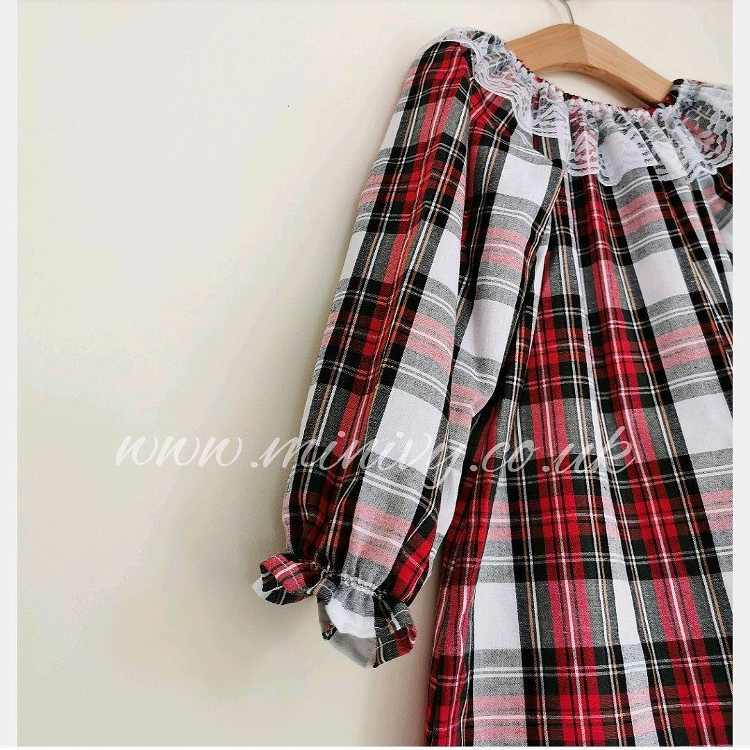 ARABELLA DRESS - TARTAN