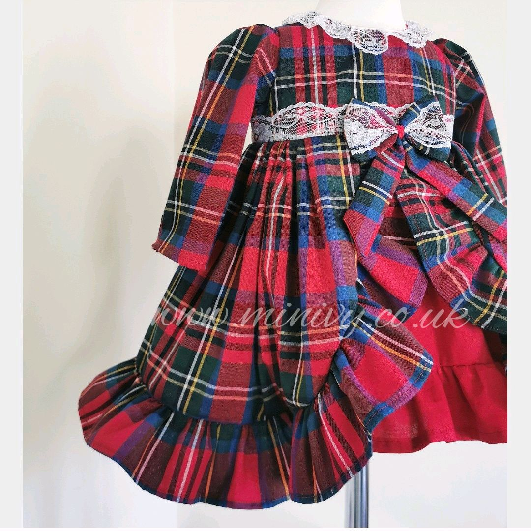 BELLE DRESS - TARTAN