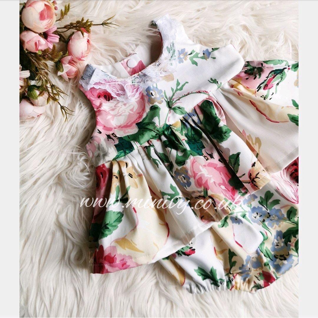 PEPLUM ROMPER - VINTAGE GRAND BOUQUET