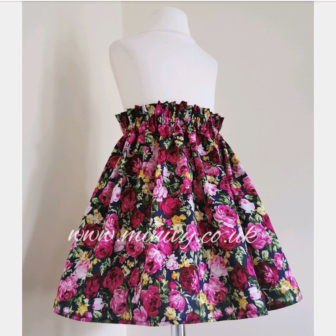 NAVY IN BLOOM SKIRTS