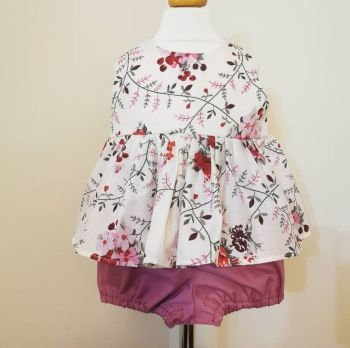 12/18M - BERRY FLORAL TWO PIECE