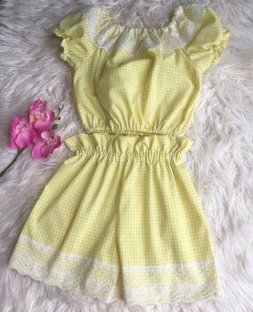 4/5Y - YELLOW GINGHAM TWO PIECE