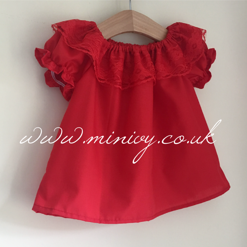 DAINTY BLOUSE RED