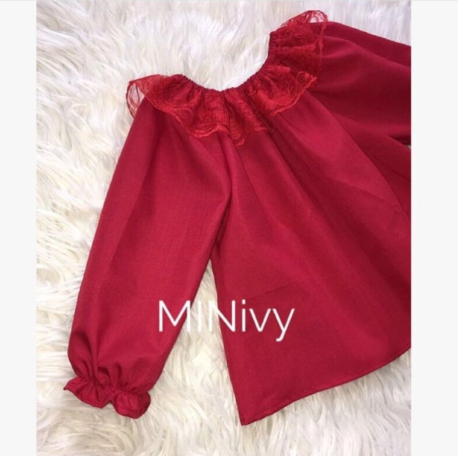 ARABELLA BLOUSE RED