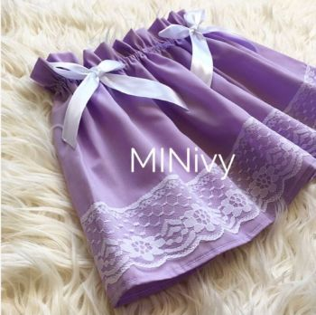 LILAC LACEY SKIRT