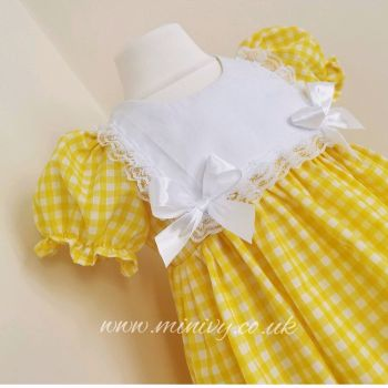 IRIS DRESS - YELLOW GINGHAM