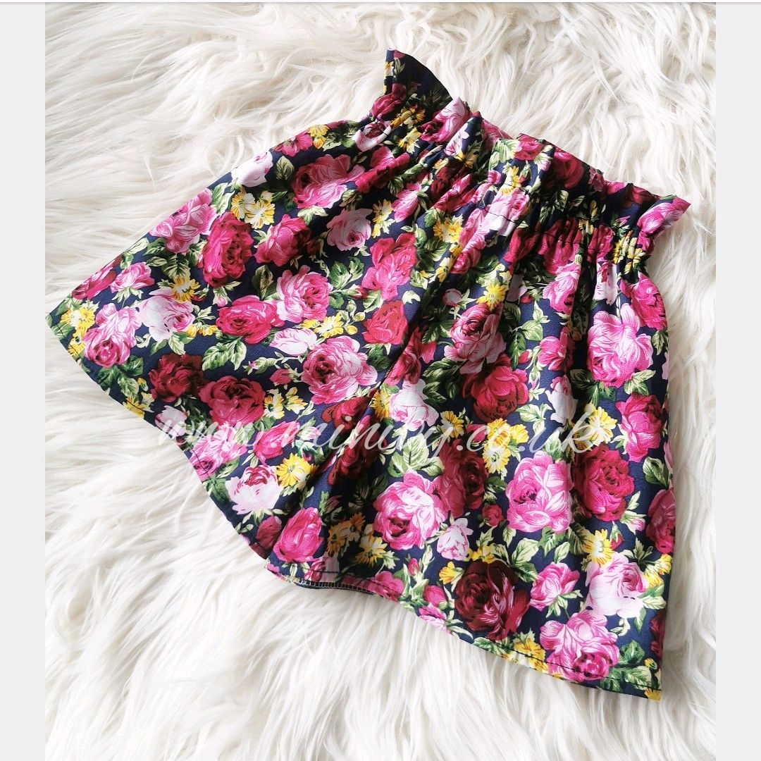 NAVY IN BLOOM - SHORTS