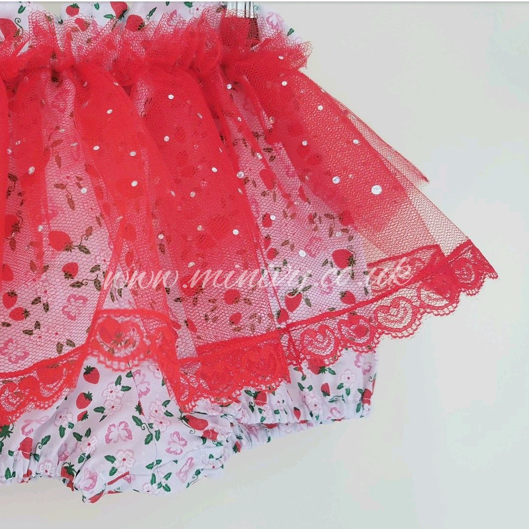 2/3Y BALLET BLOOMS - RED STRAWBERRY FIELDS RRP-£18