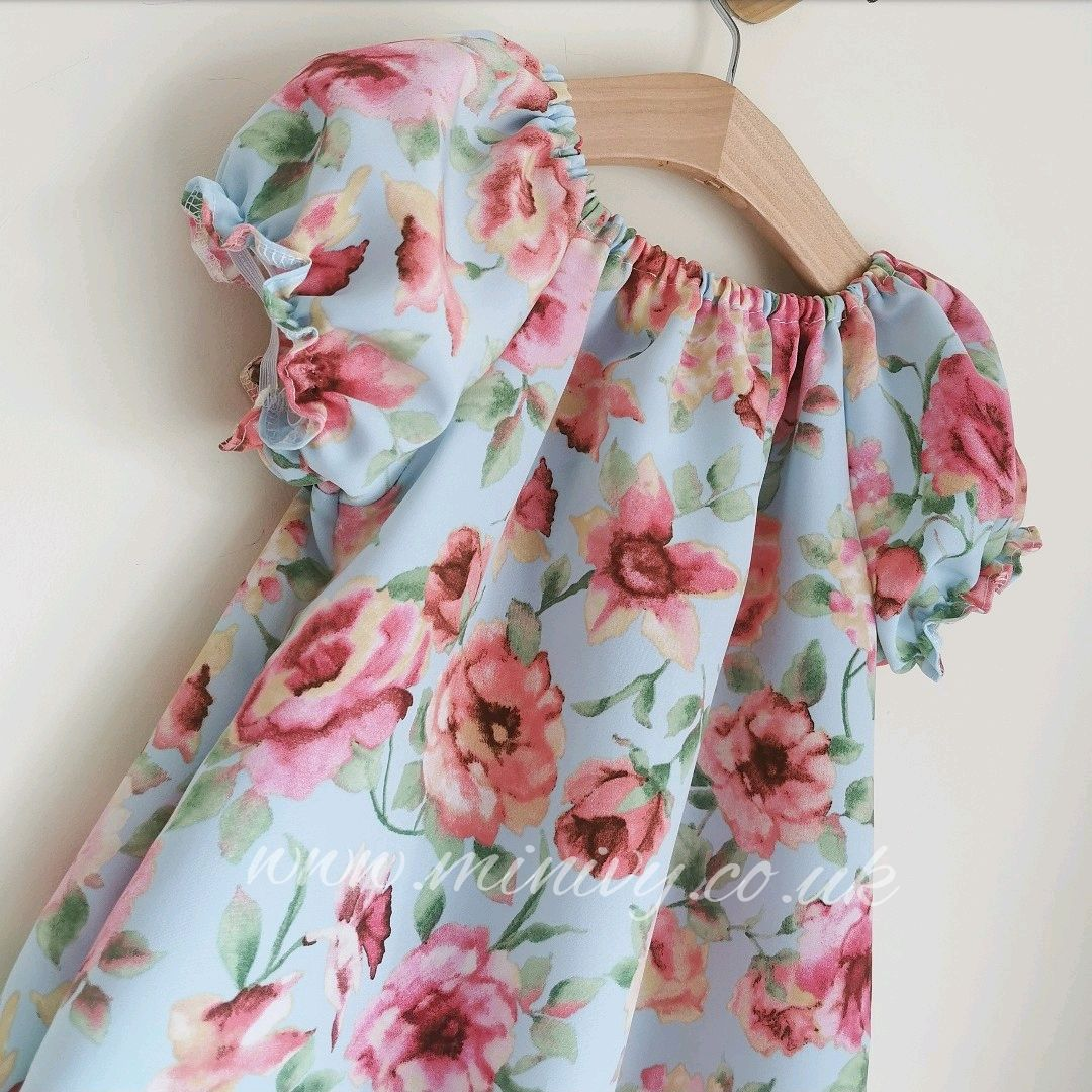 DAINTY DRESS - SKY ROSE