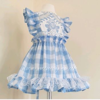 ARLA DRESS - CHINA BLUE