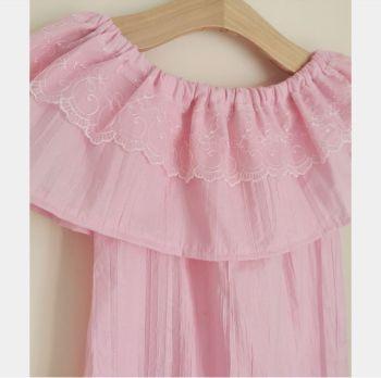 5/6Y DELILAH DRESS - PINK SHIMMER RRP-£18