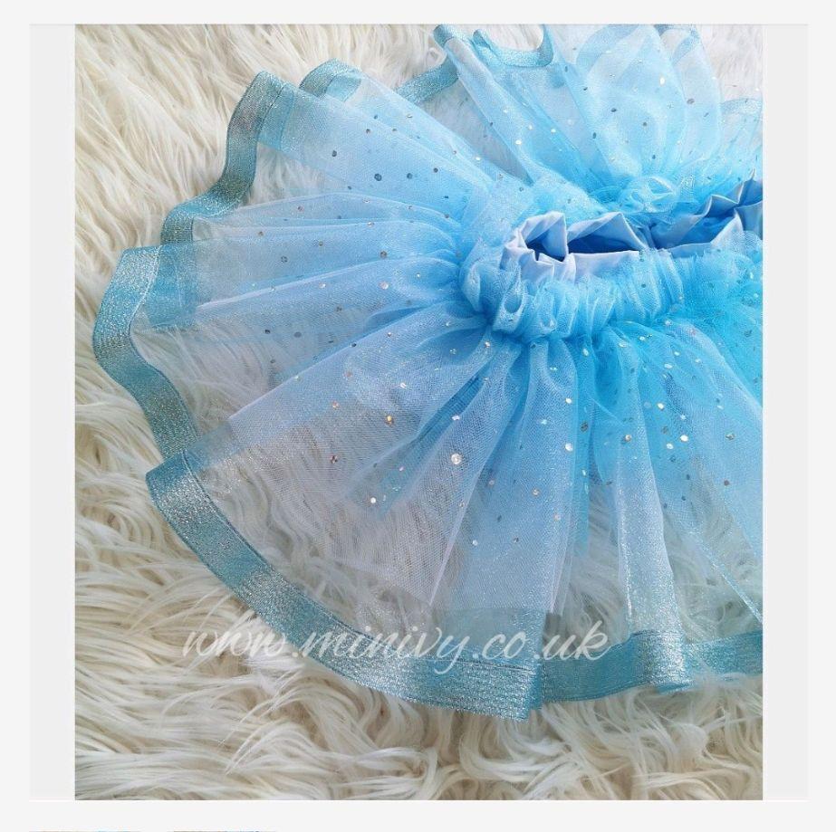 2/3Y BALLET BLOOMS - BLUE POLKA / TULLE - RRP-£18