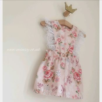 MARGOT PLAYSUIT - VINTAGE PINK BUNCHES