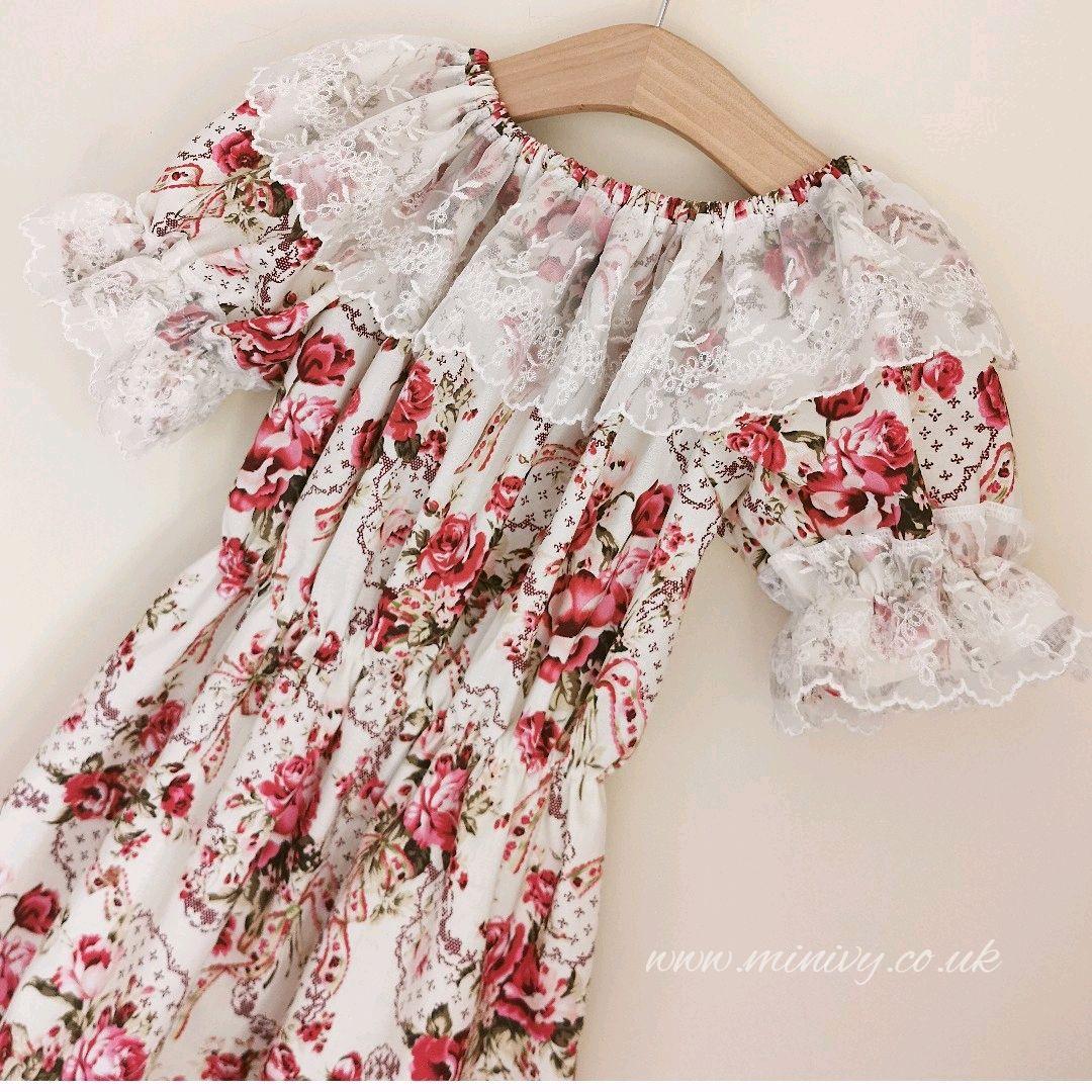 GYPSY DRESS - SWEET ROSE / AUSTRIAN LACE