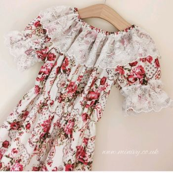 GYPSY DRESS - SWEET ROSE / AUSTRIAN LACE