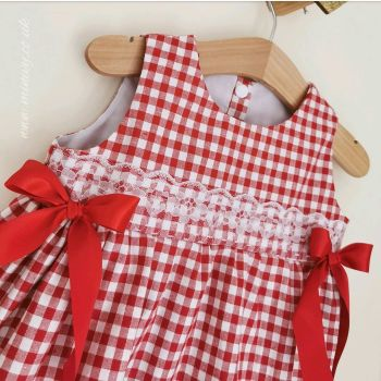 EMILIA DRESS - RED GINGHAM