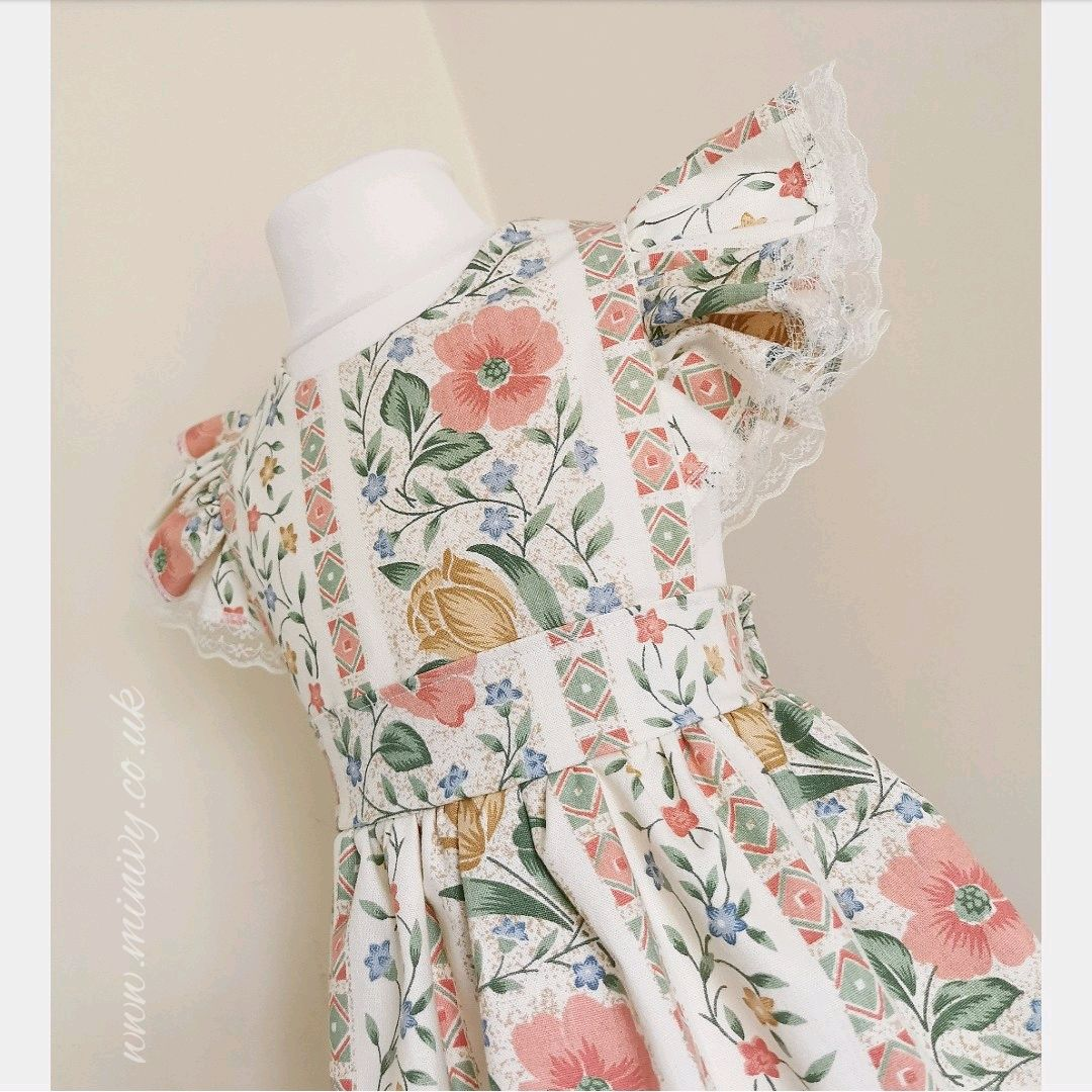 LOULA DRESS - VINTAGE PEACH MOYGASHEL