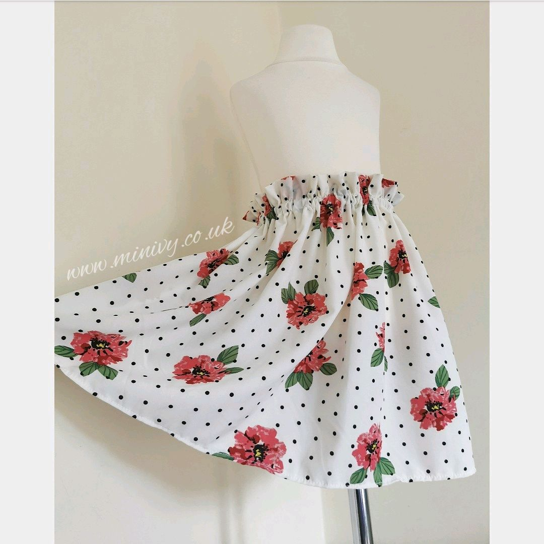 POLKA ROSE SKIRT