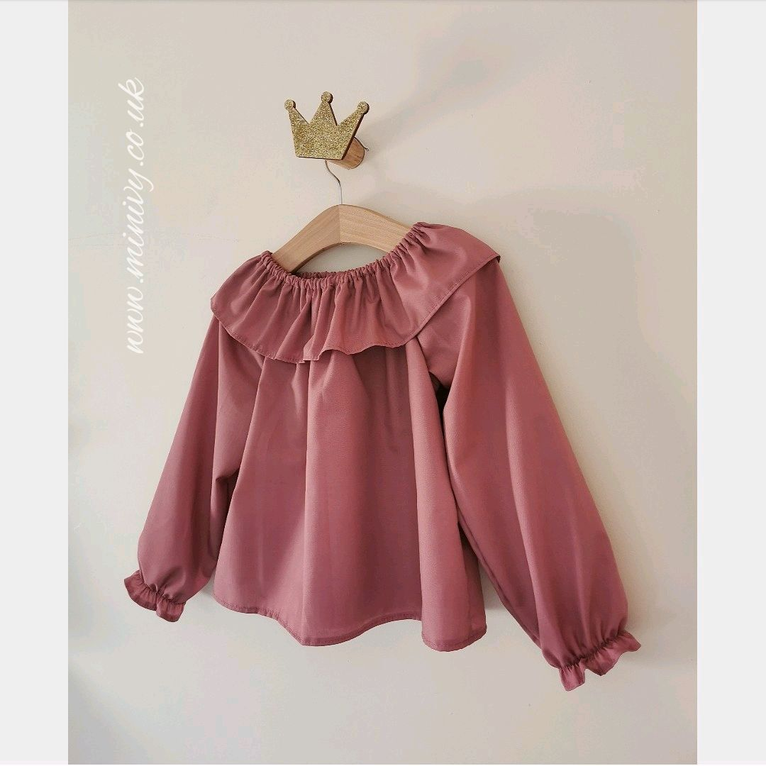 ARABELLA - FRILL COLLAR - ROSE PINK