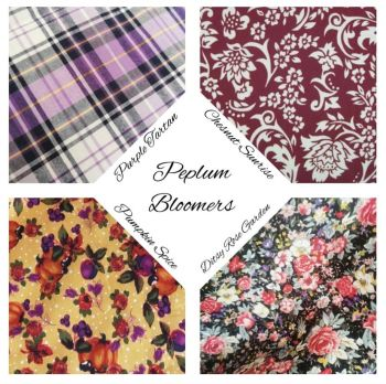 PEPLUM BLOOMERS - CHOICE OF FABRIC