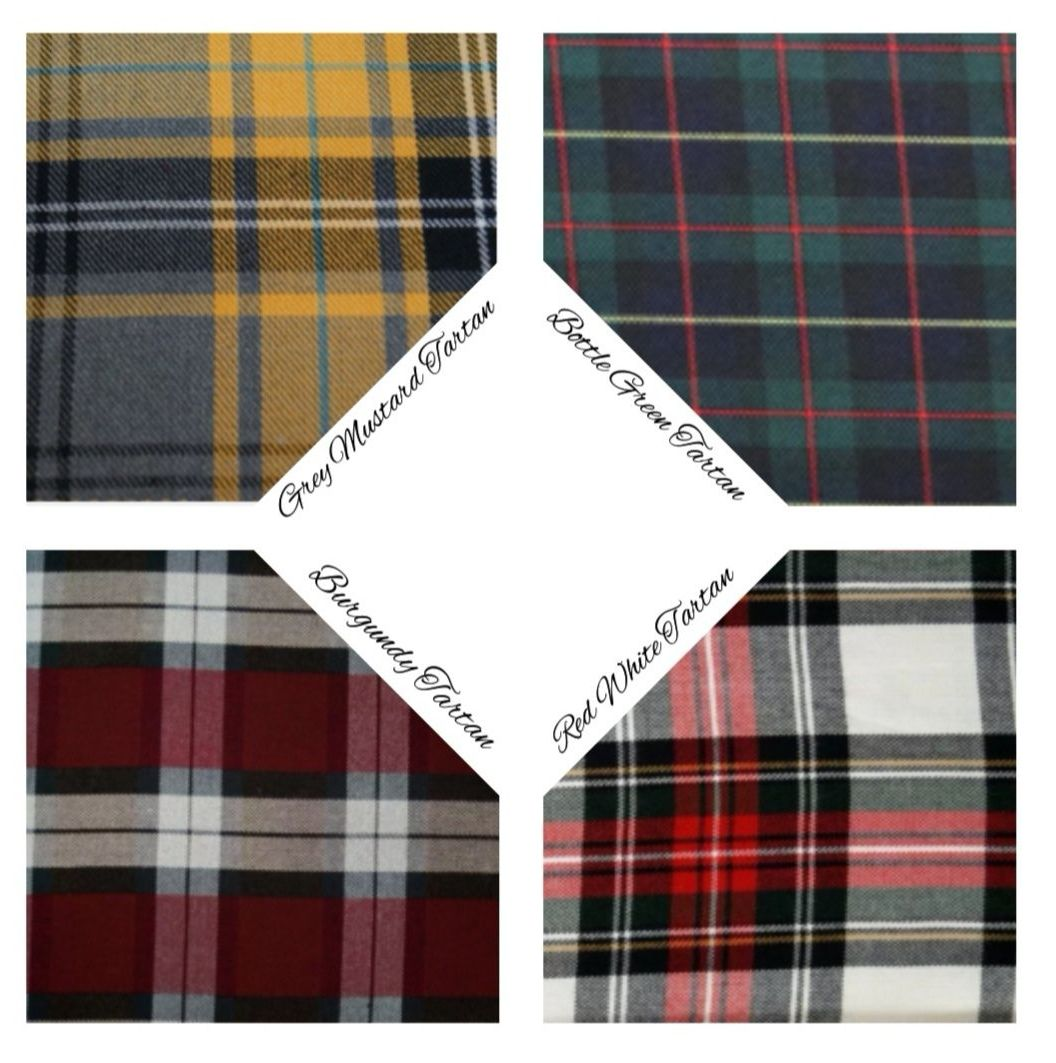 TARTAN PEPLUMS - CHOICE OF FABRIC