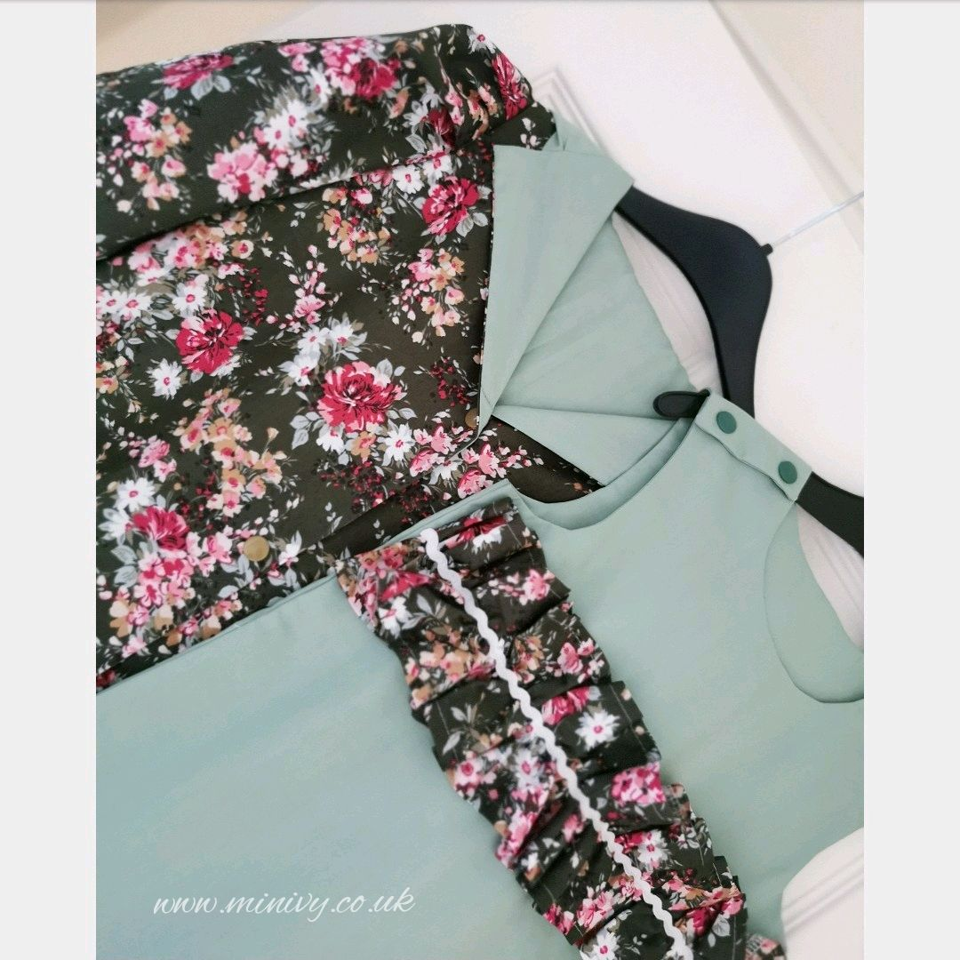 4/5Y DRESS JACKET SET - FOREST FLORAL