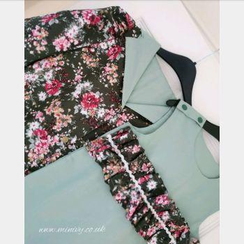 4/5Y DRESS JACKET SET - FOREST FLORAL