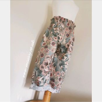 HIGH RUFFLE WAIST TROUSERS - VINTAGE CROWSON FLORAL