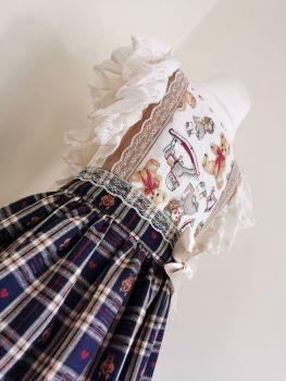 AYDA DRESS - TEDDY CHECK / TRADITIONAL TREASURES